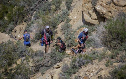 Hiking up Gooseberry Mesa